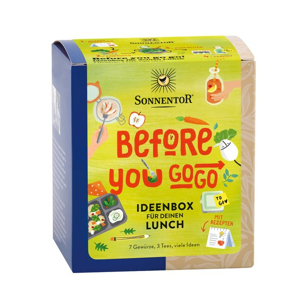 Before you go go! Ideenbox für deinen Lunch bio 40,8 g, Packung